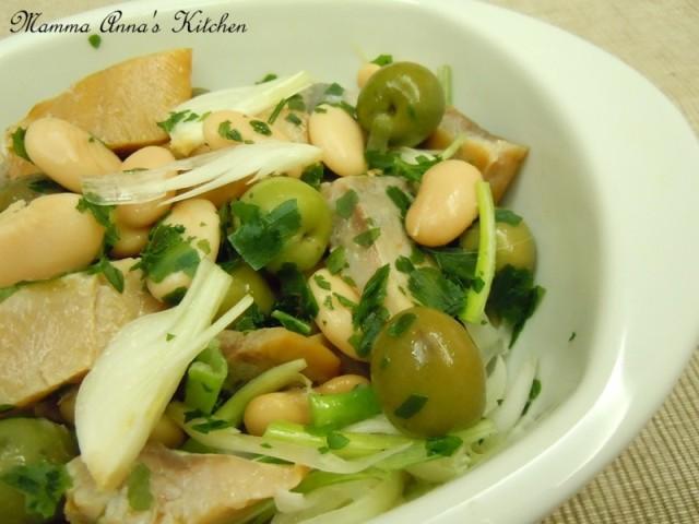 insalata di fagioli e aringhe