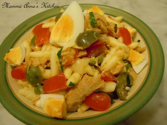 insalata di pasta con tonno
