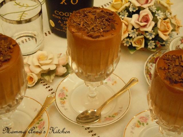 mousse leggera al cioccolato