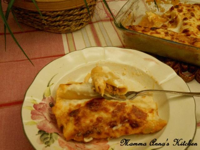 Cannelloni con besciamella